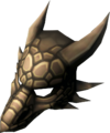 Iron dragon mask detail
