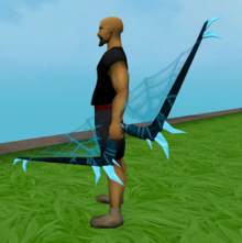 Noxious longbow (ice) equipped