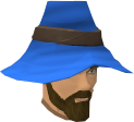 Zachory Bragg blue wizard hat chathead