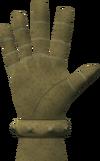 Brass hand detail