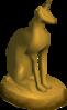 Golden statuette detail