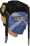 Highland war paint (green, female) chathead