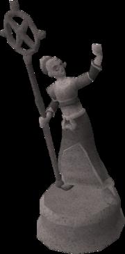 Zenevivia statue