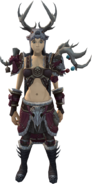 Cheer Hunter outfit equipped (female)
