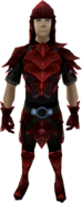 Red dragonhide armour (male) equipped