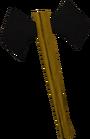 Black battleaxe detail old