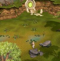 Localização Engrama do Portal dos Mundos