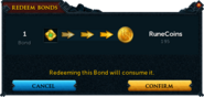 Redeeming a bond for RuneCoins confirmation