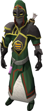 Trickster armour equipped