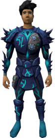 Augmented sirenic armour equipped