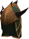 Blessed dragonhide coif (Bandos) detail