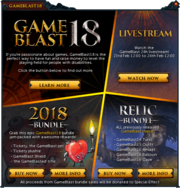 GameBlast 2018 interface