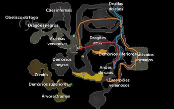 Mapa da Masmorra de Taverley - Missão