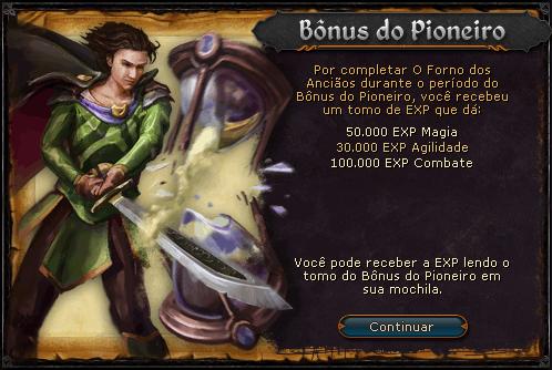 O Forno dos Anciãos Bônus do Pioneiro