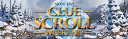 Clue Scroll Weekend Live lobby banner