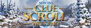 Clue Scroll Weekend Live lobby banner