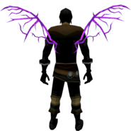 Ethereal wings (infinity) equipped
