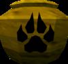 Fragile hunter urn (unf) detail