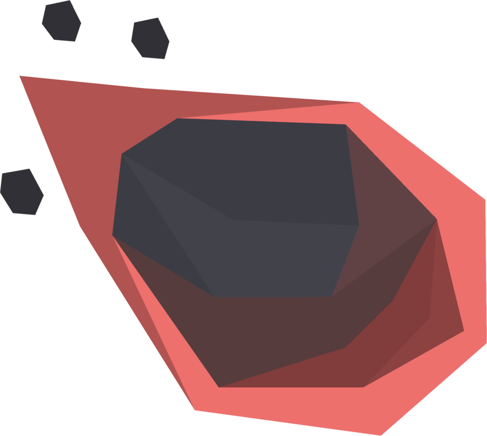 Medium meteorite detail