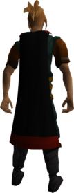 Zamorak cape equipped