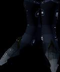 Black dragonhide boots detail