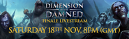 Dimension of the Damned lobby livestream 1 banner
