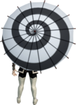 Hypnotic parasol equipped