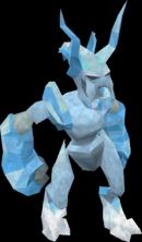 Inimigo gelado irradiante