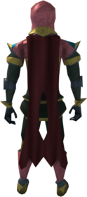 Lunar cape (red) equipped