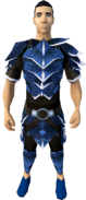 Blue dragonhide armour (t) (male) equipped