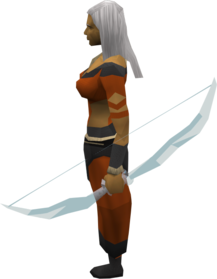 Crystal bow (historical) equipped