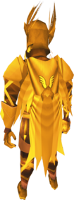 Golden warpriest of Armadyl cape equipped