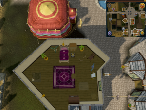 Simple clue Varrock Thessalia's Fine Clothes upstairs drawers