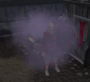 Smoke bomb effect