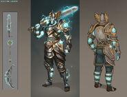 Stormborn armour concept art