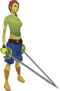 2001 Swords equipped