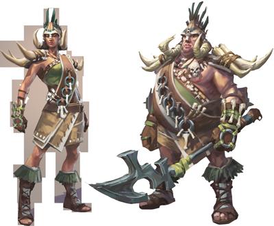 Bandosian Warlord concept art