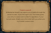 Barbarian assault wave ticket (read)
