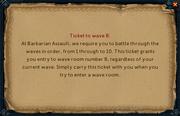 Barbarian assault wave ticket (read)