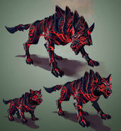 Fire Lycan concept art