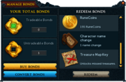 Manage Bonds (Treasure Map Key)