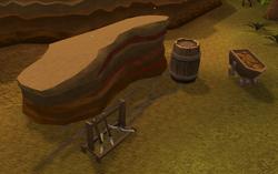 Red sandstone mine