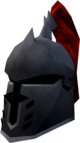 Steel heraldic helm (Zamorak) detail