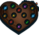 Box of Valentine chocolates