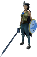 Easy task set (full, female) equipped