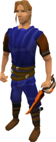Flameburst defender equipped