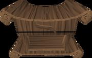 Mahogany fancy dress box built