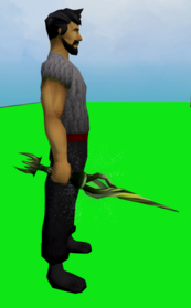 Wand of the praesul (barrows) equipped