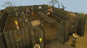 Barbarian village long hall