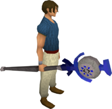 Body talisman staff equipped